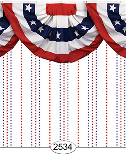 - Dollhouse Wallpaper Patriotic Star Stripe Bunting Border