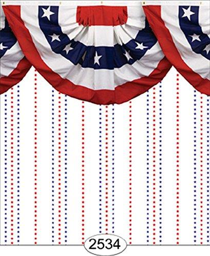 - Dollhouse Wallpaper Patriotic Star Stripe Bunting Border