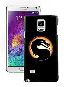 Beautiful Designed Cover Case For Samsung Galaxy Note 4 N910A N910T N910P N910V N910R4 With video games dragons mortal kombat logo Black Phone Case
