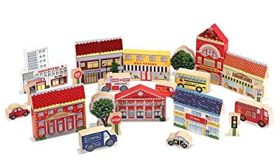 Melissa Doug Town Blocks Play Set by Melissa & Doug