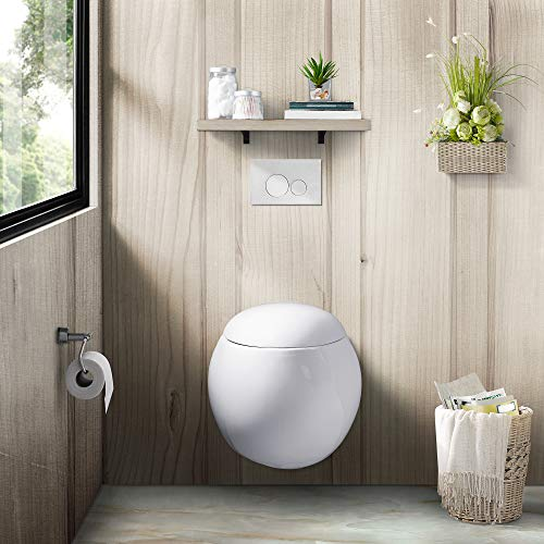 Swiss Madison Plaisir Wall Hung Toilet Bowl (Soft Closing Quick Release Seat Included)
