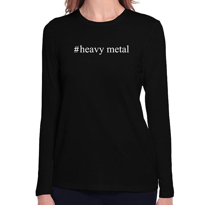 Teeburon Heavy Metal Hashtag Camiseta Manga Larga Mujer