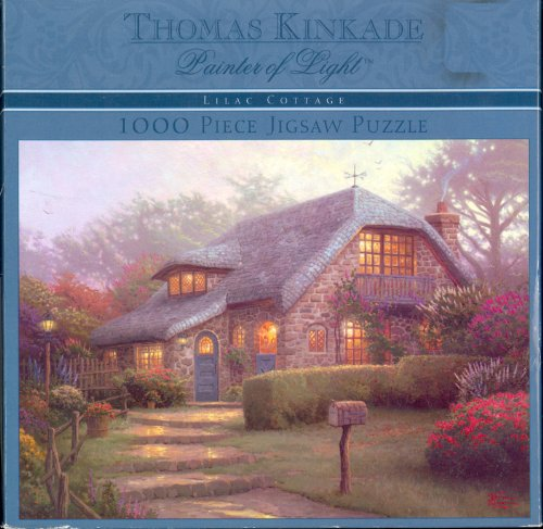Thomas Kinkade Painter of Light Lilac Cottage 1000 piece puzzle
