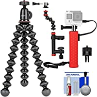Joby GorillaPod 1K Flexible Tripod with Ball Head Kit + Battery Hand Grip + Camera Clamp & Arm + Kit