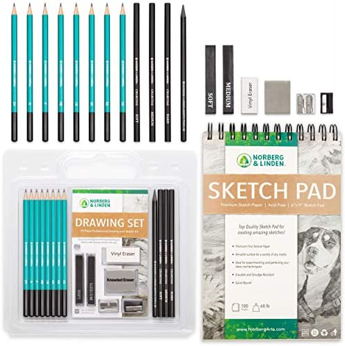 Sketch Pencils Set Page Drawing product image