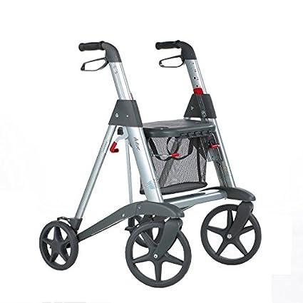 Access 4 ruedas andador con asiento/cesta de transporte ...