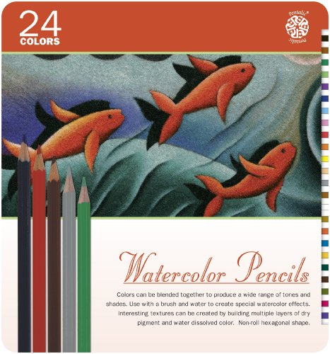 Watercolor Pencil Tin - Pentalic Art 24-Piece Watercolor Pencil Tin Set