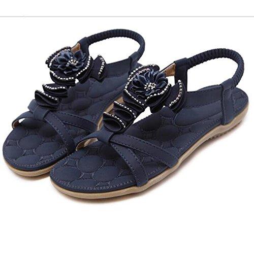XIAOLIN サンダル女性の国風のラインストーンフラットボトムフラットヒールシンプルな学生のビーチの靴 (色 : 01, サイズ さいず : EU38/UK5.5/CN38)