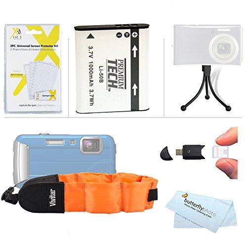 Battery Kit For Olympus Stylus Tough TG-820 iHS TG-830 iHS, TG-630 iHS TG-850 iHS TG-860, TG-870 Digital Camera Includes Extended (1000maH) Replacement LI-50B Battery + STRAP FLOAT + Mini Tripod -