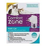 Comfort Zone 100526065 Multicat Calming Diffuser for Cats & Kittens
