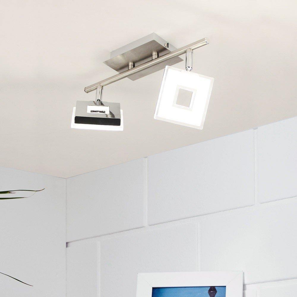Licht-Trend LED 2er-Deckenspot Sempre Cube drehbarer LED Strahler ...
