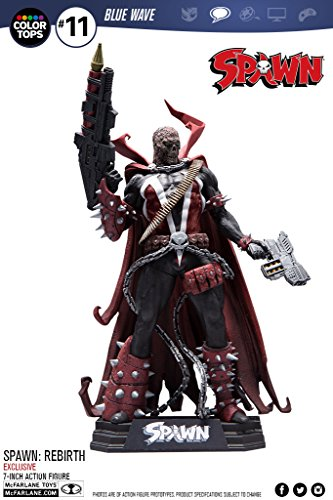[Spawn: Rebirth Color Tops Blue Wave #11 Hamburger Head Variant 7-Inch Action Figure] (Spawn Costume For Kids)