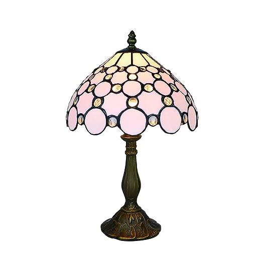 Tokira Lámparas de mesa Tiffany blancas Lámparas de vidrio ...