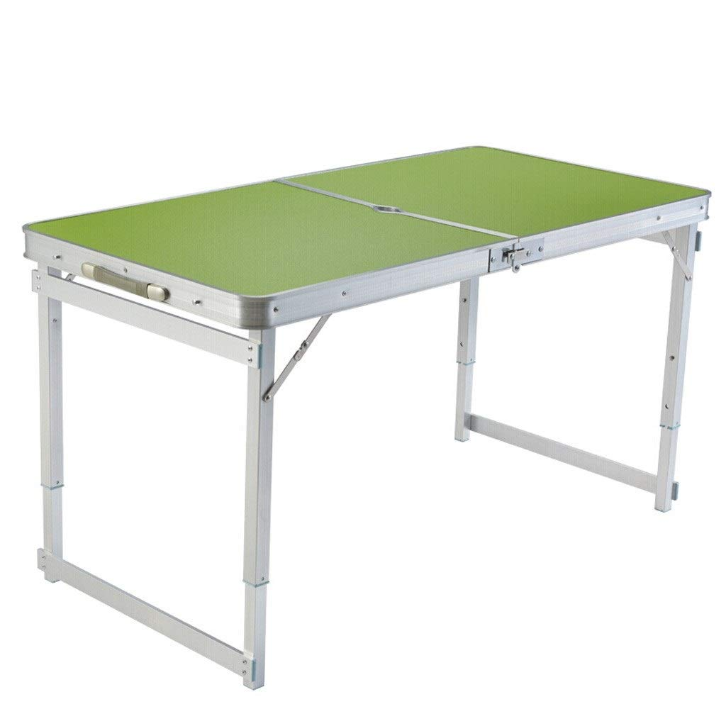 Suitcase Table 1.2 Meters Outdoor Folding Table and Chairs Set Portable Stall Table Home Dining Table (Color : Green) by HD-Table & Chair Sets