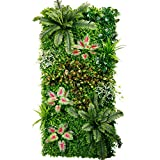 Wall Cloth Decoration Flower Background Wall - Green Wall Decoration Turf Wall Simulation Flower Wall Background Wall Greening (4 Style Selection) (Color : A)