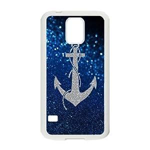 Custom LiuXueFei Phone caseWave Sailor Anchor Pattern For SamSung Galaxy S4 Case -Style-12