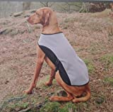 Waterproof Windproof Reflective Dog Rambler Coat w/ Fleece Lined Blanket, X- Large, Gray For Sale