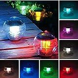 LED Solar Lantern Water Ball Light Colorful LED Floating Yard Pond Garden Pool