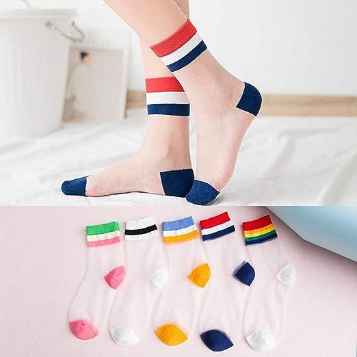 Women Summer Rainbow Funny Novelty Socks