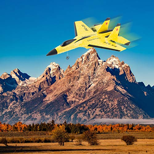 Flurries ✈️ SU-35 RC Airplane Fighter RTF - Remote Control Glider Toys -Helicopter Plane with 3.5CH 2.4G Control - Strong Motor EPP Foam Outdoor Indoor Aircraft (Ship from US!!!) (Yellow) from Flurries-Toys