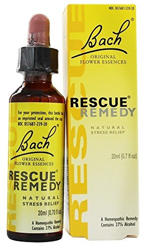 Bach Original Flower Remedies Rescue Remedy Natural Stress Relief 0 7 fl oz 20 ml Dropper