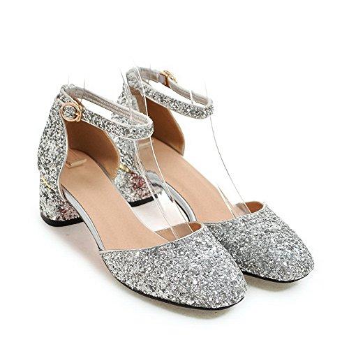 Femme Argenté Silver EU Compensées Sandales 36 5 SLC03990 AdeeSu SwqAg1ax