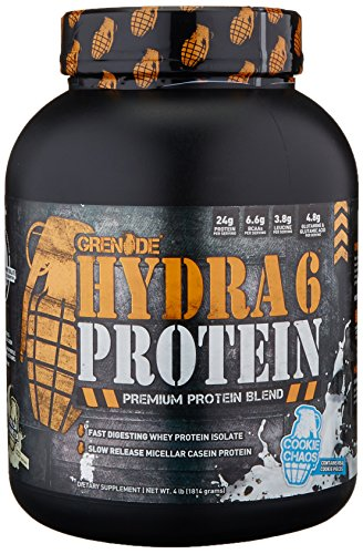 Grenade Hydra 6, 50% Whey Isolate and 50% Casein. The Wor...