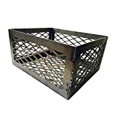 BBQsmokerMods LavaLock Lasercut Fire Box Charcoal Basket, (12in x 10in x 6in)