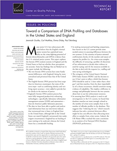 toward a comparison of dna profiling and databases in the united