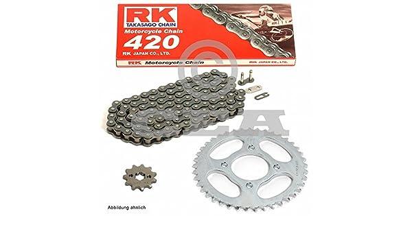 Cadena de Derbi Senda 50 Enduro R DRD Pro 07 - 13, cadena RK 420 132, abierto, 11/53: Amazon.es: Coche y moto