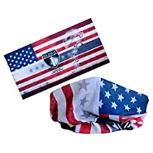 Bandanna Headwear Scarf Wrap(us Flag) ---Wear It As a Neckwarmer, Headband, Bandana, Face Tube, Wristband, Balaclava, Hood, Cap for Outdoors Activities Such As Hiking, Cycling, Motorcycling, Snowboarding, Skiing