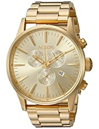 Nixon Men's 'Sentry Chrono' Quartz Stainless Steel Watch, Color:Gold-Toned