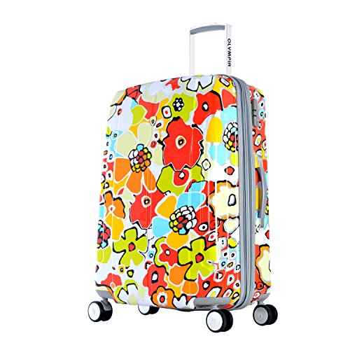 Olympia Luggage Blossom 25 Inch Expandable Vertical Rolling Upright Bag, Aqua, One Size by Olympia