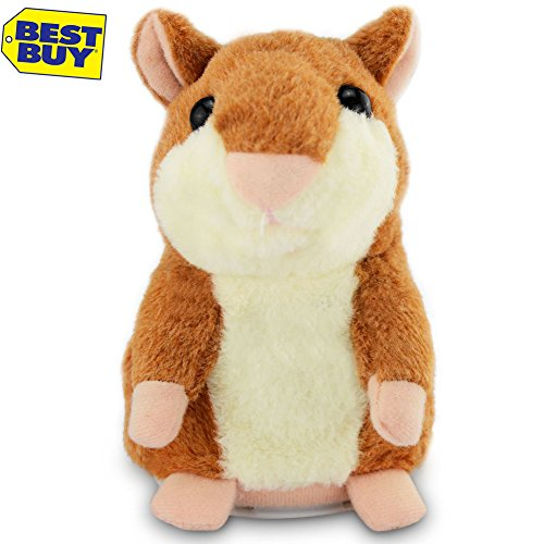 LUCOG Mimicry Pet Talking Hamster Repeats What You Say Plush Animal Toy Electronic Hamster Mouse, Cute Gift for Boy and Girl (1 pieces)