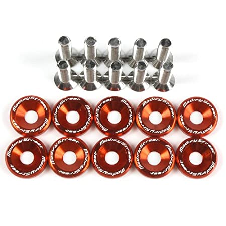 Purple Aluminum Alloy Fender Bumper Engine Dress Up Washers Kit with Bolts - 10 Pieces by Modifystreet Style 4