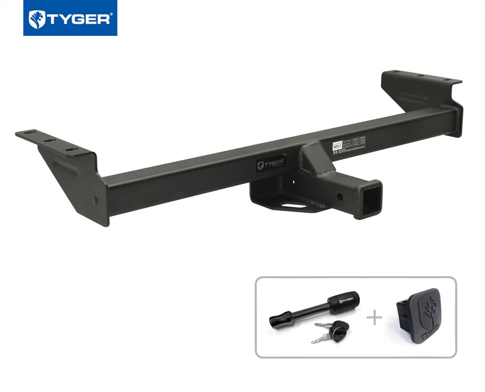 Tyger Auto TG-HC3N0188 Trailer Hitch (Class 3 Combo with 2'' Receiver Cover and Pin Lock for 2005-2017 Nissan Frontier / 2009-2012 Suzuki Equator)
