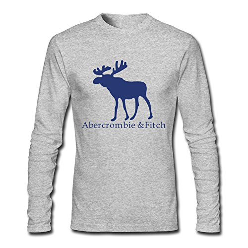 the Abercrombie & Fitch Logo for Men Printed Long Sleeve Cotton T-shirt