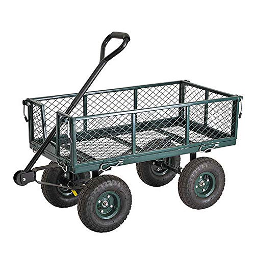Pier Cartwheels Breach Wagon Truck with Heavy-Duty Steel Mesh Deck and Fold-Down Sides