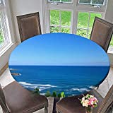 kitchen 67 brunch Mikihome Round Tablecloth The Land and Plants of The sea for Kitchen 63