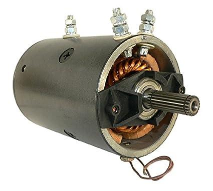 DB Electrical LRW0005 New Winch Motor for 12V Warn 20 Spline Heavy on