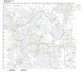 Amazon.com: ZIP Code Wall Map of Winter Haven, FL ZIP Code Map ...