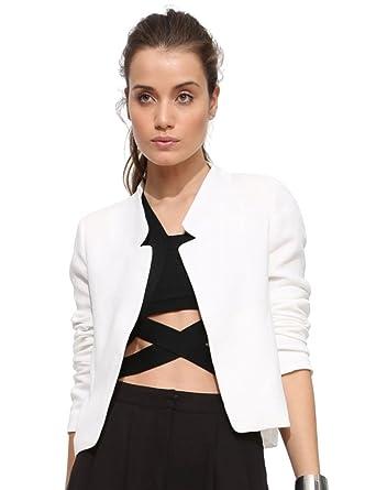 ZKOO Chaqueta Mujer Americana Blazer Traje Blazer De Slim Fit Elegante Oficina Femenina Capa Cazadoras Abrigos para Mujer