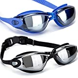2Pack Swimming Goggles - Professional Anti Fog No Leaking UV Protection Swim Goggles