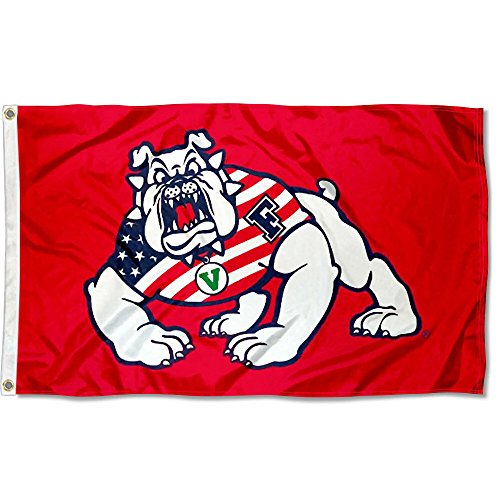 FSU Bulldogs USA Flag Patriotic College Flag - Fresno State Flag