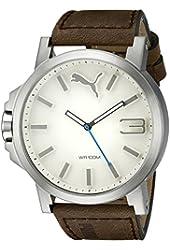 PUMA Men's PU102941001 Ultrasize Analog Display Left-Handed Black/White Sport Watch
