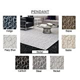 ROUND 3′ Steel – PENDANT – Custom Carpet Accent Area Rug – 40 Oz. Tufted, Pinpoint Saxony – Nylon by Milliken (7 Colors to Choose From) Review