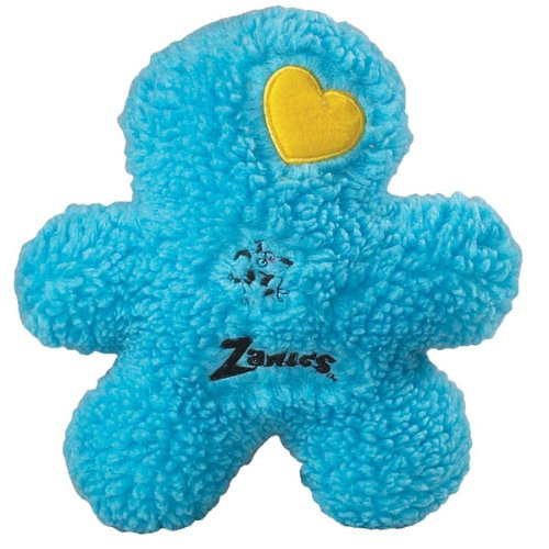 Zanies 8-1/2-Inch Embroidered Berber Boy Dog Toy, Blue, My Pet Supplies