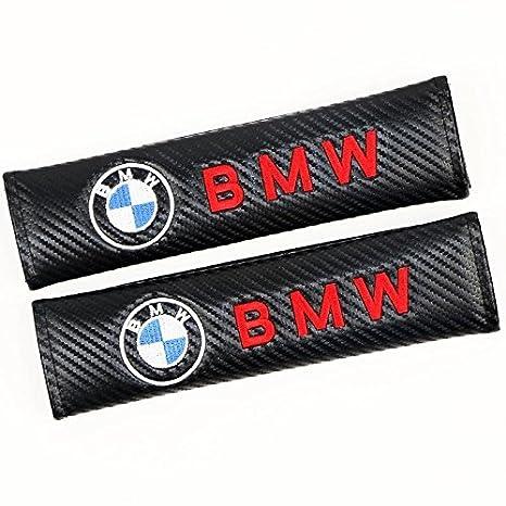fit Mustang ffomo Bearfire Car Seat Belts Covers Padding Carbon Fiber Leather Belt Shoulder Sleeve