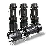 Flashlights, 711TEK 7W Mini LED Flashlight 300 Lumen Adjustable Focus Zoom Flashlight (4 Pack)
