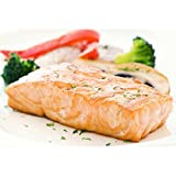 Wild White King Salmon, 10 lbs Fresh Fish Frozen 7-9 oz. Portions Individually & Vacuum Packaged